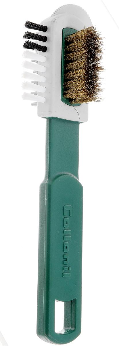Щетка для замши Collonil Combi Burste, с железным ворсом, цвет: белыйMW-3101Щетка для чистки нубука и расчесывания замши.