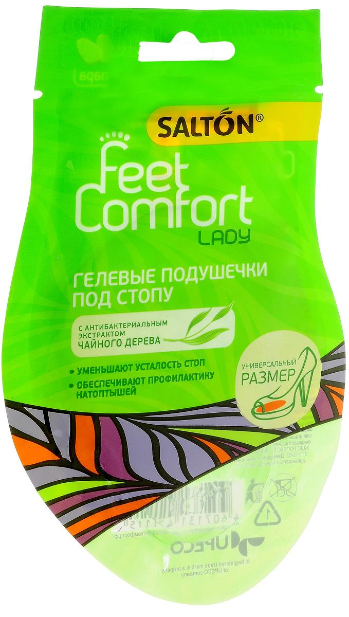 Подушечки гелевые под стопу Salton Lady, 2 шт54 002814Гелевые подушечки под стопу Salton Lady обеспечивают комфортное ношение обуви на высоких каблуках. Они уменьшают нагрузку на переднюю часть стопы, а также на суставы и позвоночник во время ходьбы, предотвращают образование мозолей-натоптышей. Универсальны для любого размера обуви.Способ применения:Удалите защитную пленку, расположите в обуви согласно схеме на упаковке клейкой поверхностью вниз и сильно прижмите. Комплектация: 2 шт. Размер: 6,5 см х 6 см. Материал: полиуретановый гель.