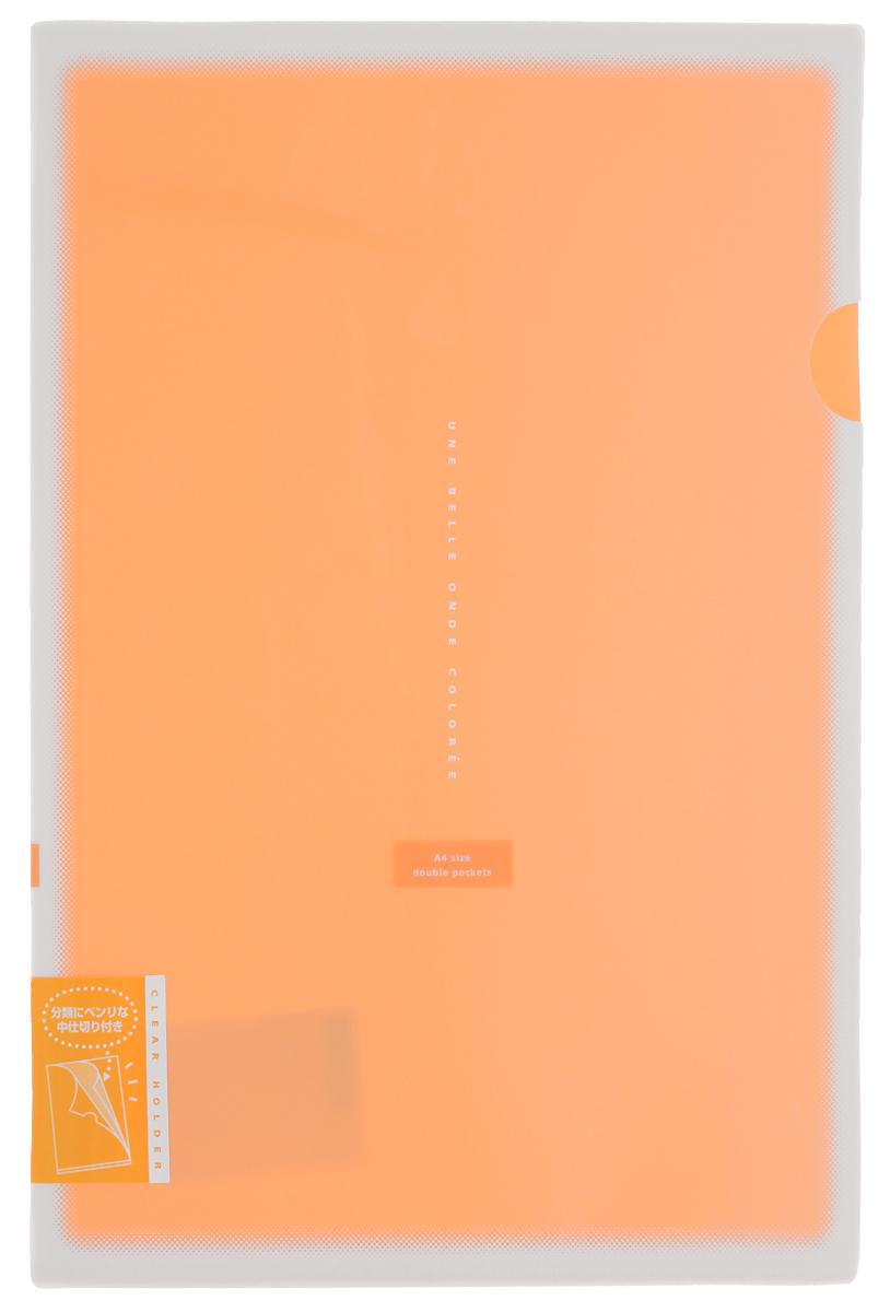 Kokuyo Папка-уголок Coloree цвет оранжевый828464Папка-уголок Kokuyo Coloree подойдет для хранения документов и тетрадей как для офисного работника, так и для студента или школьника. По форме это обычная папка-уголок формата А4, но она имеет вставки на 2 кармана и вмещает в себя гораздо больше различных документов, чем папка с одним карманом. Папка изготовлена из качественного пластика, поэтому она всегда будет сохранять все ваши документы в чистом и опрятном виде.