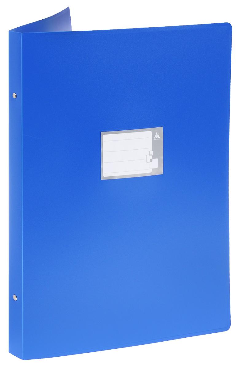 Бюрократ Папка на 4-х кольцах цвет синий816572Надежная папка-уголок Бюрократ станет для вас незаменимым помощником в учебных или офисных делах. Папка-уголок формата А3 изготовлена из износоустойчивого пластика и предназначена для хранения различных документов. Она оснащена 4 металлическими кольцами, которые позволят надежно закрепить все нужные документы. На обложке можно написать информацию о владельце или о ее содержимом. Такая папка всегда будет сохранять ваши документы в опрятном и чистом виде.