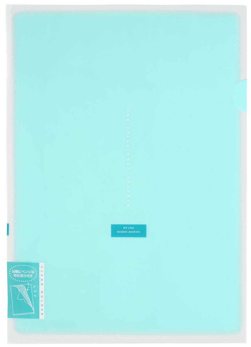 Kokuyo Папка-уголок Coloree цвет бирюзовый828461Папка-уголок Kokuyo Coloree подойдет для хранения документов и тетрадей как для офисного работника, так и для студента или школьника. По форме это обычная папка-уголок формата А4, но она имеет вставки на 2 кармана и вмещает в себя гораздо больше различных документов, чем папка с одним карманом. Папка изготовлена из качественного пластика, поэтому она всегда будет сохранять все ваши документы в чистом и опрятном виде.