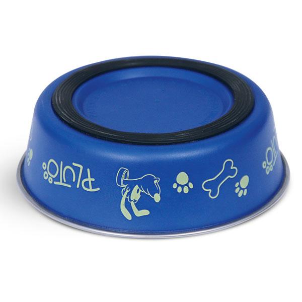 Миска для животных Triol Disney. Pluto, 450 мл0120710Металлическая миска с пластиковым покрытием. Резиновое кольцо в основании миски препятствует ее скольжению во время использования.