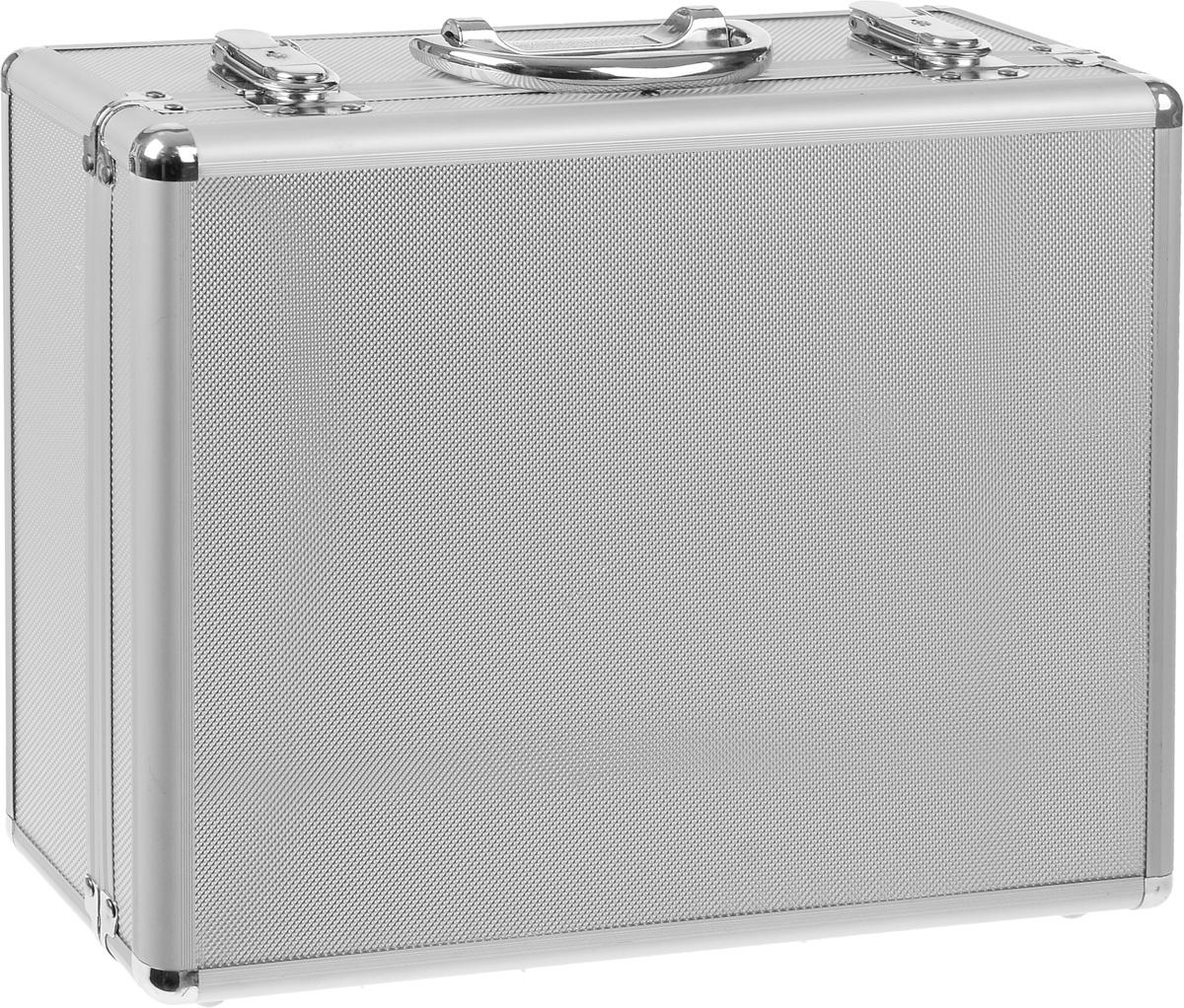 Ящик для инструментов FIT, алюминиевый, 34 х 28 х 12 см98298130Ящик для инструментов FIT изготовлен из алюминия. Внутренние перегородки - переставные, что позволяет изменять пространство ящика по своему усмотрению. Отделка выполнена из мягкого пористого материала, что обеспечивает более бережное хранение инструмента.
