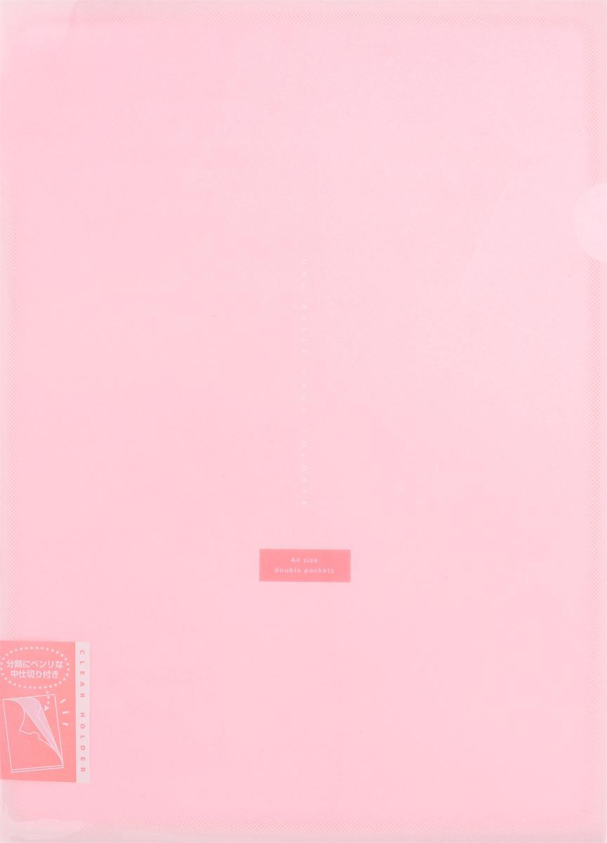 Kokuyo Папка-уголок Coloree цвет розовыйFS-36054Папка-уголок Kokuyo Coloree подойдет для хранения документов и тетрадей как для офисного работника, так и для студента или школьника. По форме это обычная папка-уголок формата А4, но она имеет вставки на 2 кармана и вмещает в себя гораздо больше различных документов, чем папка с одним карманом.Папка изготовлена из качественного пластика, поэтому она всегда будет сохранять все ваши документы в чистом и опрятном виде.