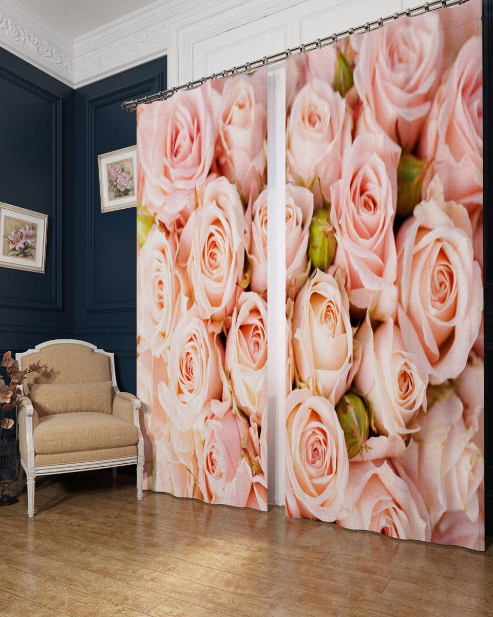 Комплект фотоштор Сирень Молодые розы, на ленте, высота 260 см02365-ФШ-БЛ-001Фотошторы Сирень Молодые розы, выполненные из блэкаута, отлично дополнят украшение любого интерьера. Блэкаут - это трехслойная светонепроницаемая ткань - 100% полиэстер, по структуре напоминает плотный хлопок, очень мягкий,с небольшим сероватым оттенком из-за черной нити, входящей в состав ткани. Блэкаут не требует особого ухода, хорошо драпируется. Пропускает солнечные лучи не более 5%. Крепление на карниз при помощи шторной ленты на крючки. В комплекте 2 шторы. Ширина одного полотна: 145 см. Высота штор: 260 см. Рекомендации по уходу: стирка при 30 градусах, гладить при температуре до 110 градусов. Изображение на мониторе может немного отличаться от реального.