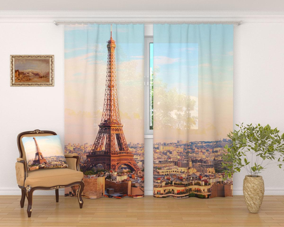 Комплект фототюлей Сирень Просыпающийся Париж, на ленте, высота 260 см03236-ФТ-ВЛ-001Фототюль Сирень Просыпающийся Париж из легкой парящей ткани - вуали - благодаря своей прозрачности позволяет создать в комнате уютную атмосферу, отлично дополняет украшение любого окна. Ткань хорошо держит форму, не требует специального ухода. Яркая и чёткая картинка будет радовать вас каждый день. Крепление на карниз при помощи шторной ленты на крючки. В комплекте: 2 тюля. Ширина полотна: 145 см. Высота полотна: 260 см. Рекомендации по уходу: стирка при 30 градусах, гладить при температуре до 110 градусов. Изображение на мониторе может немного отличаться от реального.