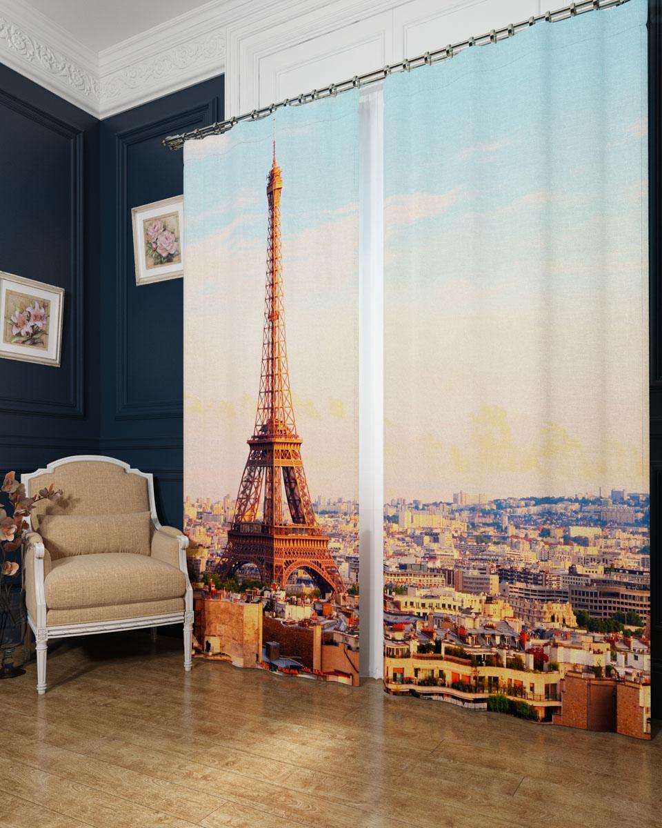 Комплект фотоштор Сирень Просыпающийся Париж, на ленте, высота 260 смS03301004Фотошторы Сирень Просыпающийся Париж, выполненные из блэкаута, отлично дополнят украшение любого интерьера. Блэкаут - это трехслойная светонепроницаемая ткань - 100% полиэстер, по структуре напоминает плотный хлопок, очень мягкий,с небольшим сероватым оттенком из-за черной нити, входящей в состав ткани. Блэкаут не требует особого ухода, хорошо драпируется. Пропускает солнечные лучи не более 5%. Крепление на карниз при помощи шторной ленты на крючки. В комплекте 2 шторы. Ширина одного полотна: 145 см.Высота штор: 260 см.Рекомендации по уходу: стирка при 30 градусах, гладить при температуре до 110 градусов.Изображение на мониторе может немного отличаться от реального.