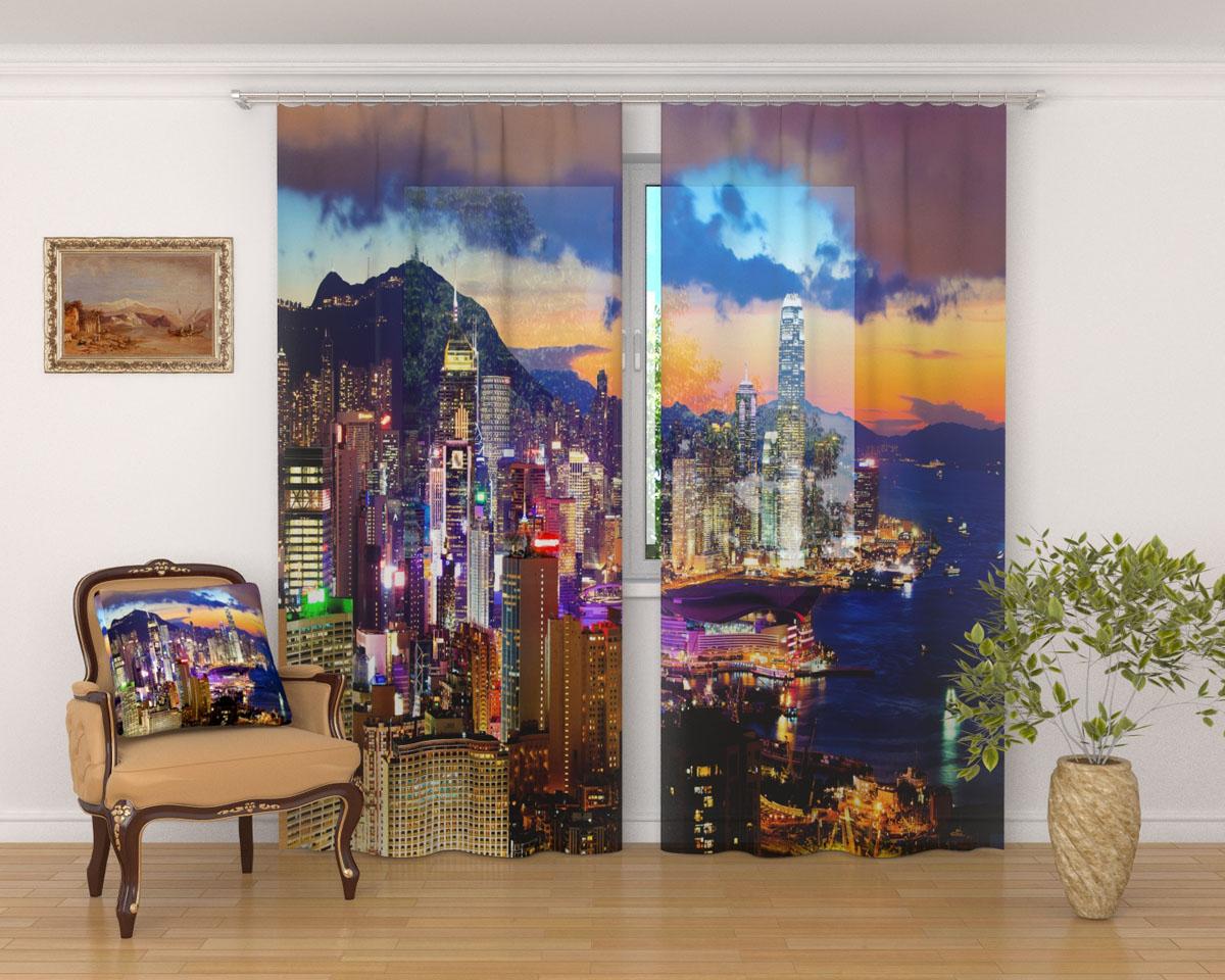 Комплект фототюлей Сирень Закат в Гонконге, на ленте, высота 260 см03592-ФТ-ВЛ-001Фототюль Сирень Закат в Гонконге из легкой парящей ткани - вуали - благодаря своей прозрачности позволяет создать в комнате уютную атмосферу, отлично дополняет украшение любого окна. Ткань хорошо держит форму, не требует специального ухода. Яркая и чёткая картинка будет радовать вас каждый день. Крепление на карниз при помощи шторной ленты на крючки. В комплекте: 2 тюля. Ширина полотна: 145 см. Высота полотна: 260 см. Рекомендации по уходу: стирка при 30 градусах, гладить при температуре до 110 градусов. Изображение на мониторе может немного отличаться от реального.