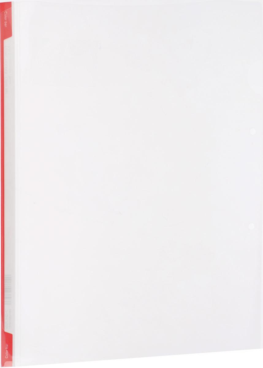 Kokuyo Папка-уголок цвет прозрачный красныйMDL4380Папка-уголок Kokuyo подойдет для хранения документов и тетрадей как для офисного работника, так и для студента или школьника.Папка формата А4 изготовлена из качественного пластика, имеет длинный корешок для указания необходимой информации, а также два отверстия для подшивания в папки-скоросшиватели или папки на кольцах.