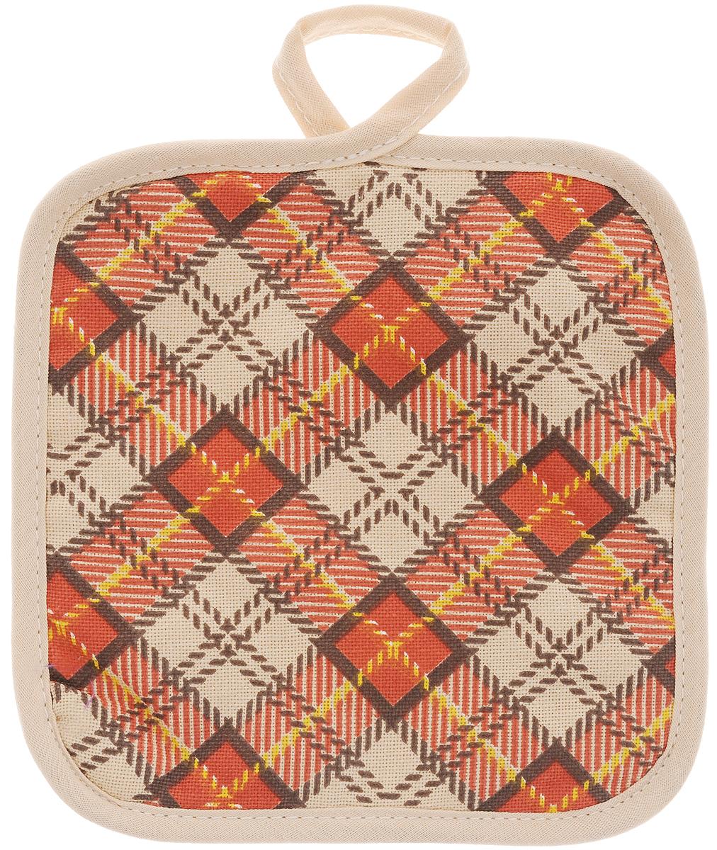 Прихватка Bonita Принц Уэльский, 17 х 17 см15010816399Прихватка Bonita выполнена из натурального хлопка и декорирована оригинальным рисунком. Изделие оснащено специальной петелькой, за которую его можно подвесить на крючок в любом удобном для вас месте. Такая прихватка красиво дополнит интерьер кухни.