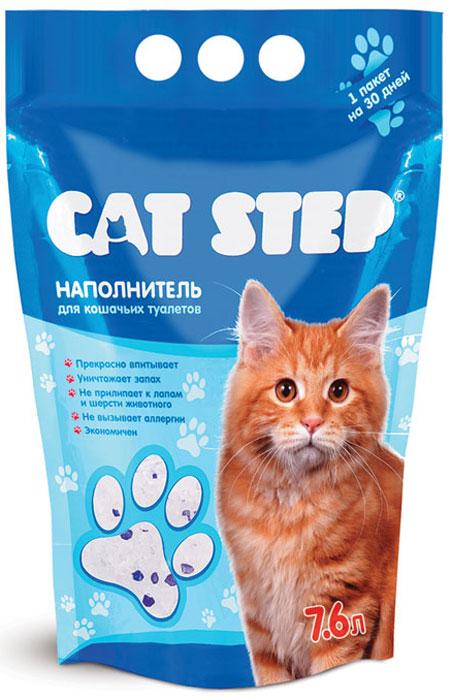 """Наполнитель для кошачьего туалета """"Cat Step"""", силикагелевый, 7,6 л НК-006"""
