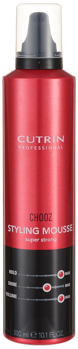 Cutrin Пенка экстра-сильной фиксации Choozism Styling Mousse Super Strong, 300 млFS-00897Обеспечивает максимальный уровень фиксации укладки и долговременный объем. Защищает волосы от высоких температур при укладке феном или утюгом. Пантенол оказывает на волосы ухаживающий эффект.