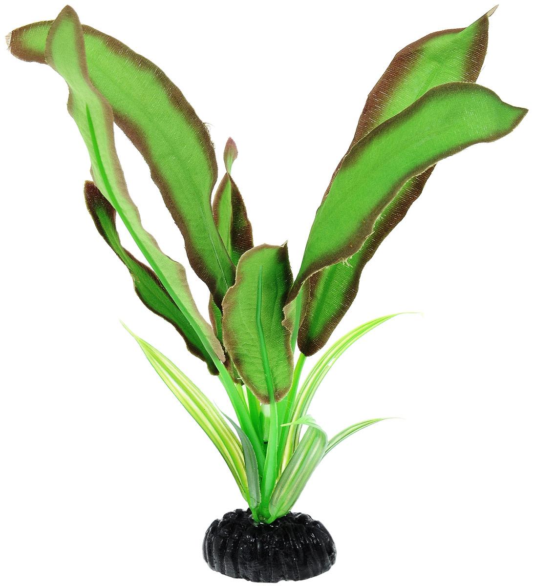 Растение для аквариума Barbus Эхинодорус Бартхи, шелковое, цвет: зеленый, коричневый, высота 20 смPlant 045/20Растение для аквариума Barbus Эхинодорус Бартхи, выполненное из высококачественного нетоксичного пластика и шелка, станет прекрасным украшением вашего аквариума. Шелковое растение идеально подходит для дизайна всех видов аквариумов. В воде происходит абсолютная имитация живых растений. Изделие не требует дополнительного ухода и просто в применении. Растение абсолютно безопасно, нейтрально к водному балансу, устойчиво к истиранию краски, подходит как для пресноводного, так и для морского аквариума. Растение для аквариума Barbus Эхинодорус Бартхи поможет вам смоделировать потрясающий пейзаж на дне вашего аквариума или террариума.