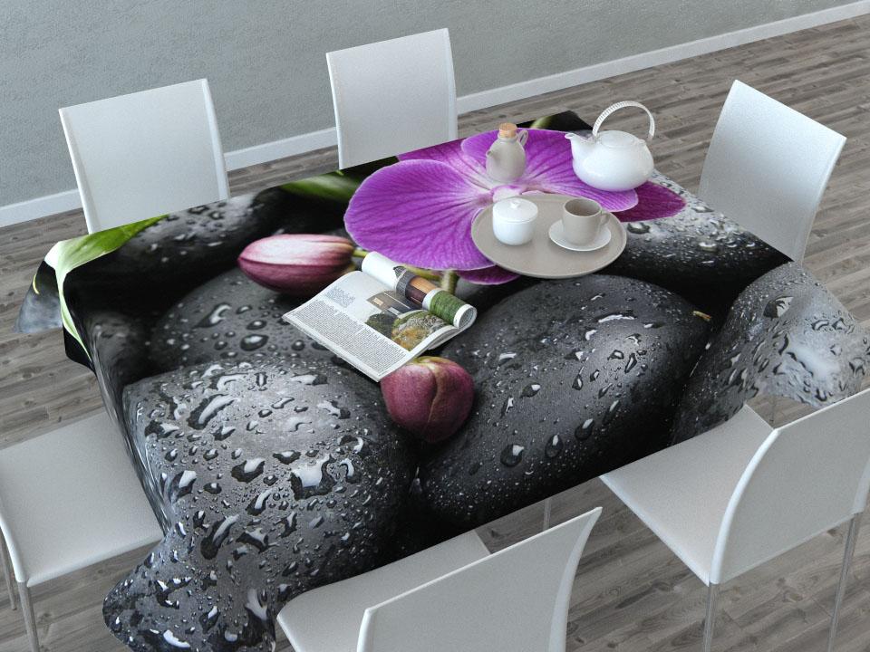 Скатерть Сирень Орхидея на камнях, прямоугольная, 145 x 120 см00209-СК-ГБ-003Прямоугольная скатерть Сирень Орхидея на камнях с ярким и объемным рисунком, выполненная из габардина, преобразит вашу кухню, визуально расширит пространство, создаст атмосферу радости и комфорта. Рекомендации по уходу: стирка при 30 градусах, гладить при температуре до 110 градусов. Размер скатерти: 145 х 120 см. Изображение может немного отличаться от реального.