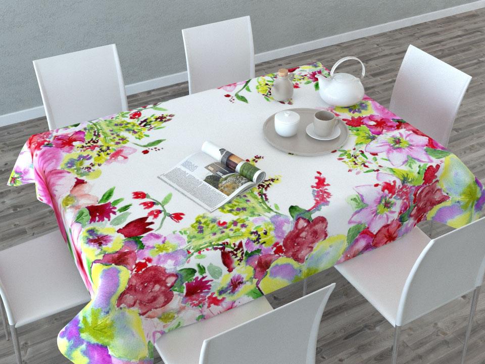 Скатерть Сирень Акварельные цветы, прямоугольная, 145 x 120 см01480-СК-ГБ-003Прямоугольная скатерть Сирень Акварельные цветы, выполненная из габардина, с ярким и объемным рисунком преобразит вашу кухню, визуально расширит пространство, создаст атмосферу радости и комфорта. Рекомендации по уходу: стирка при 30 градусах, гладить при температуре до 110 градусов. Размер скатерти: 145 х 200 см. Изображение может немного отличаться от реального.