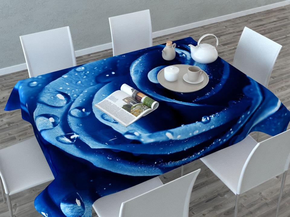 Скатерть Сирень Синяя роза, прямоугольная, 145 x 120 см531-401Прямоугольная скатерть Сирень Синяя роза с ярким и объемным рисунком, выполненная из габардина, преобразит вашу кухню, визуально расширит пространство, создаст атмосферу радости и комфорта. Рекомендации по уходу: стирка при 30 градусах, гладить при температуре до 110 градусов.Размер скатерти: 145 х 120 см. Изображение может немного отличаться от реального.