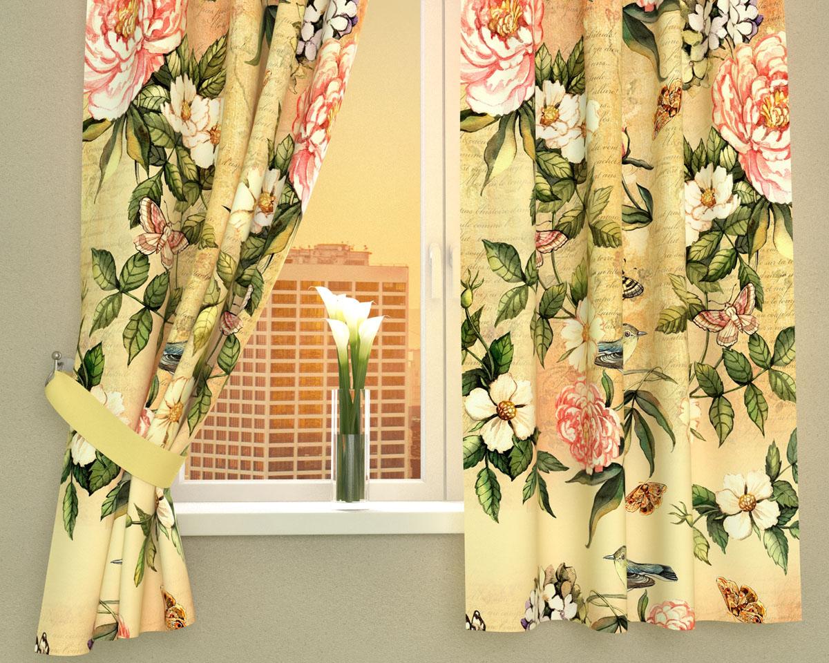 Комплект фотоштор Сирень Винтажные цветы, на ленте, высота 160 см02403-ФК-ГБ-002Фотошторы для кухни Сирень Винтажные цветы, выполненные из габардина (100% полиэстера), отлично дополнят украшение любого интерьера. Особенностью ткани габардин является небольшая плотность, из-за чего ткань хорошо пропускает воздух и солнечный свет. Ткань хорошо держит форму, не требует специального ухода. Крепление на карниз при помощи шторной ленты на крючки. В комплекте 2 шторы. Ширина одного полотна: 145 см. Высота штор: 160 см. Рекомендации по уходу: стирка при 30 градусах, гладить при температуре до 110 градусов. Изображение на мониторе может немного отличаться от реального. Подхваты в комплект не входят.