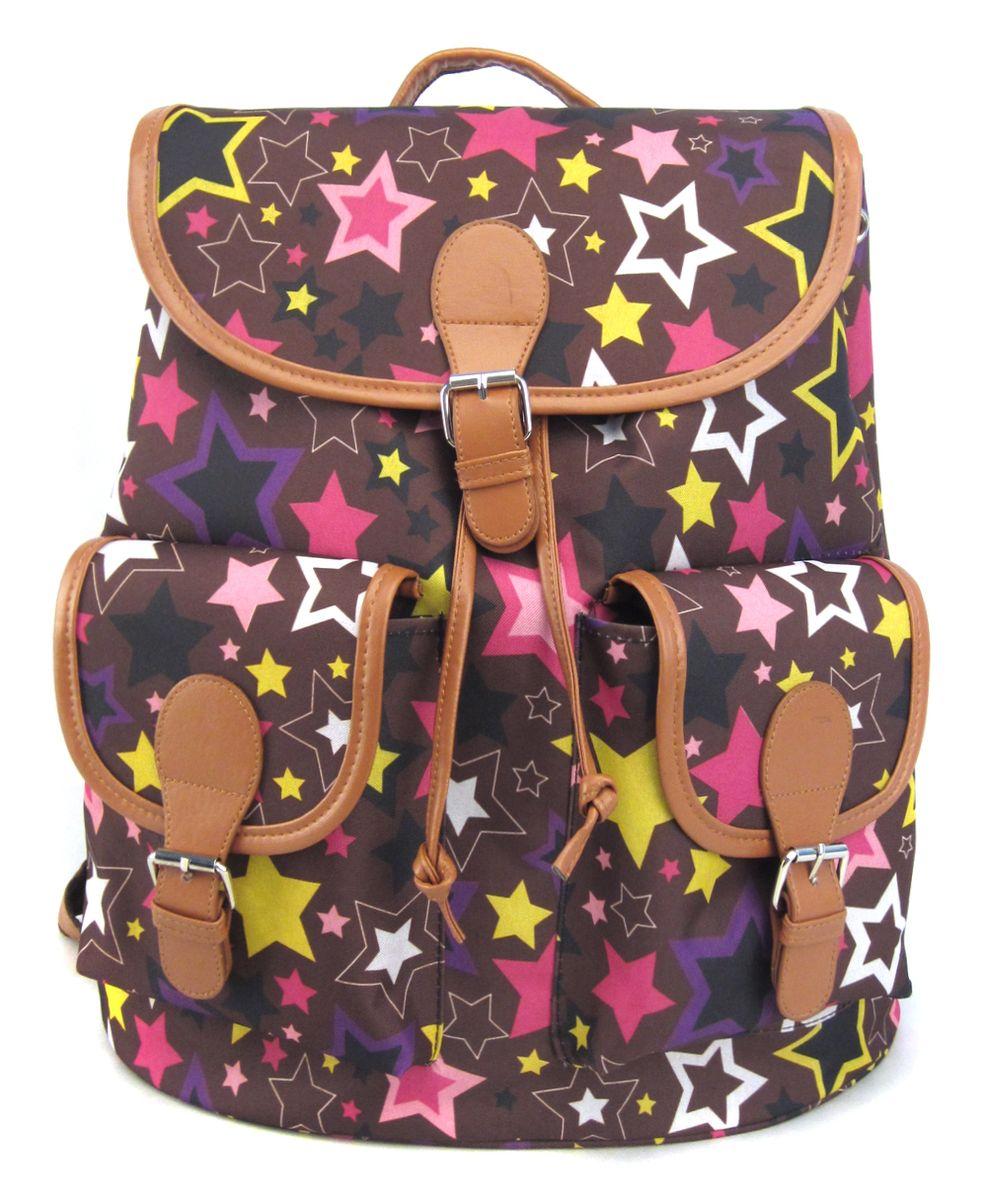 Рюкзак молодежный Creative Звездопад, цвет: мультиколор, 23 лGL-BC846Рюкзак Звездопад с 2-мя карманами, цвет мульти