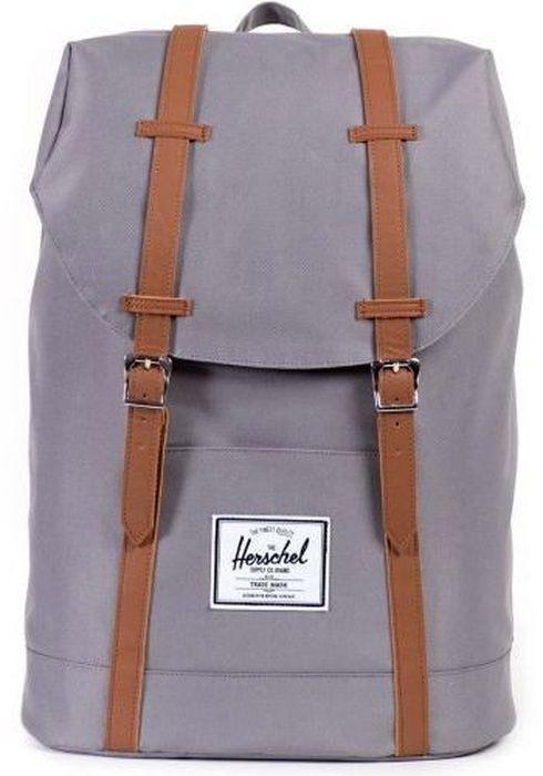 Рюкзак городской Herschel Retreat, цвет: серый, коричневый, 19,5 лBP-001 BKРюкзак Herschel Retreat - класический дизайн, функциональный и вместительный, урезанная копия модели Little America