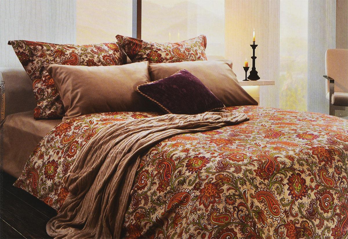 Комплект белья Tiffanys Secret Долина огней, 2-спальный, наволочки 70х70, цвет: бежевый, оранжевыйDAVC150Комплект постельного белья Tiffanys Secret Долина огней является экологически безопасным для всей семьи, так как выполнен из сатина (100% хлопок). Комплект состоит из пододеяльника, простыни и двух наволочек. Предметы комплекта оформлены оригинальным рисунком.Благодаря такому комплекту постельного белья вы сможете создать атмосферу уюта и комфорта в вашей спальне.Сатин - это ткань, навсегда покорившая сердца человечества. Ценившие роскошь персы называли ее атлас, а искушенные в прекрасном французы - сатин. Секрет высококачественного сатина в безупречности всего технологического процесса. Эту благородную ткань делают только из отборной натуральной пряжи, которую получают из самого лучшего тонковолокнистого хлопка. Благодаря использованию самой тонкой хлопковой нити получается необычайно мягкое и нежное полотно. Сатиновое постельное белье превращает жаркие летние ночи в прохладные и освежающие, а холодные зимние - в теплые и согревающие. Сатин очень приятен на ощупь, постельное белье из него долговечно, выдерживает более 300 стирок, и лишь спустя долгое время материал начинает немного тускнеть. Оцените все достоинства постельного белья из сатина, выбирая самое лучшее для себя!