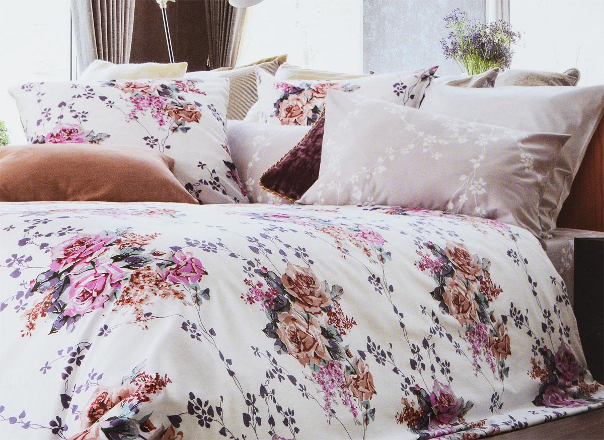 Комплект белья Tiffanys Secret Жемчужное облако, евро, наволочки 70х70, цвет: белый, бежевый, розовый2040816133Комплект постельного белья Tiffanys Secret Жемчужное облако является экологически безопасным для всей семьи, так как выполнен из сатина (100% хлопок). Комплект состоит из пододеяльника, простыни и двух наволочек. Предметы комплекта оформлены оригинальным рисунком. Благодаря такому комплекту постельного белья вы сможете создать атмосферу уюта и комфорта в вашей спальне. Сатин - это ткань, навсегда покорившая сердца человечества. Ценившие роскошь персы называли ее атлас, а искушенные в прекрасном французы - сатин. Секрет высококачественного сатина в безупречности всего технологического процесса. Эту благородную ткань делают только из отборной натуральной пряжи, которую получают из самого лучшего тонковолокнистого хлопка. Благодаря использованию самой тонкой хлопковой нити получается необычайно мягкое и нежное полотно. Сатиновое постельное белье превращает жаркие летние ночи в прохладные и освежающие, а холодные зимние - в теплые и ...