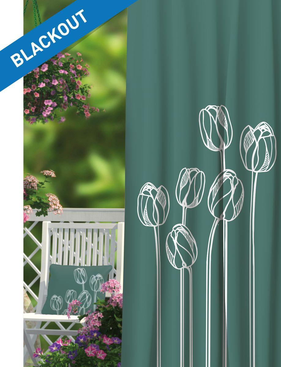 Штора Волшебная ночь Tulips, цвет: белый, морская волна, высота 270 см. 197846197846Шторы коллекции Волшебная ночь - это готовое решение для Вашего интерьера, гарантирующее красоту, удобство и индивидуальный стиль! Штора изготовлена из многослойной ткани blackout , которая обеспечивает 100% затемнение от света, а также защищает от сквозняков. Длина шторы регулируется с помощью клеевой паутинки (в комплекте). Изделие крепится на вшитую шторную ленту: на крючки или путем продевания на карниз. Дизайнеры Марки предлагают уже сформированные комплекты штор из различных тканей и рисунков для создания идеальной композиции на окне. Для удобства выбора дизайны штор распределены в стилевые коллекции: ЭТНО, ВЕРСАЛЬ, ЛОФТ, ПРОВАНС. В коллекции Волшебная ночь к данной шторе Вы также сможете подобрать шторы из других тканей: ГАБАРДИН и сатен (частичное затемнение), ВУАЛЬ (практически нулевое затемнение), которые будут прекрасно сочетаться по дизайну и обеспечат особый уют Вашему дому.