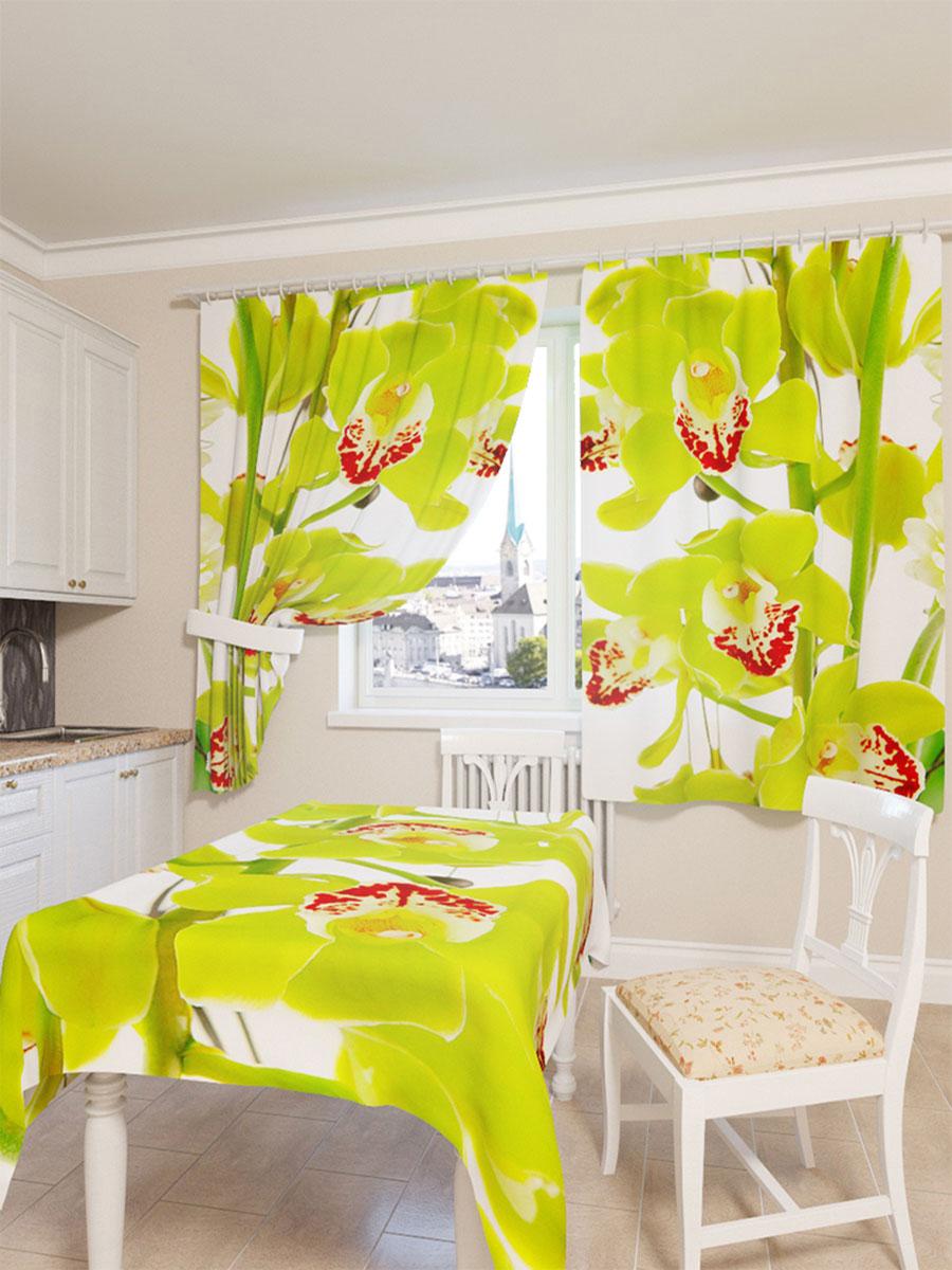 Скатерть Сирень Зеленая орхидея, прямоугольная, 145 x 120 см03569-СК-ГБ-003Прямоугольная скатерть Сирень Зеленая орхидея с ярким и объемным рисунком, выполненная из габардина, преобразит вашу кухню, визуально расширит пространство, создаст атмосферу радости и комфорта. Рекомендации по уходу: стирка при 30 градусах, гладить при температуре до 110 градусов. Размер скатерти: 145 х 120 см. Изображение может немного отличаться от реального.