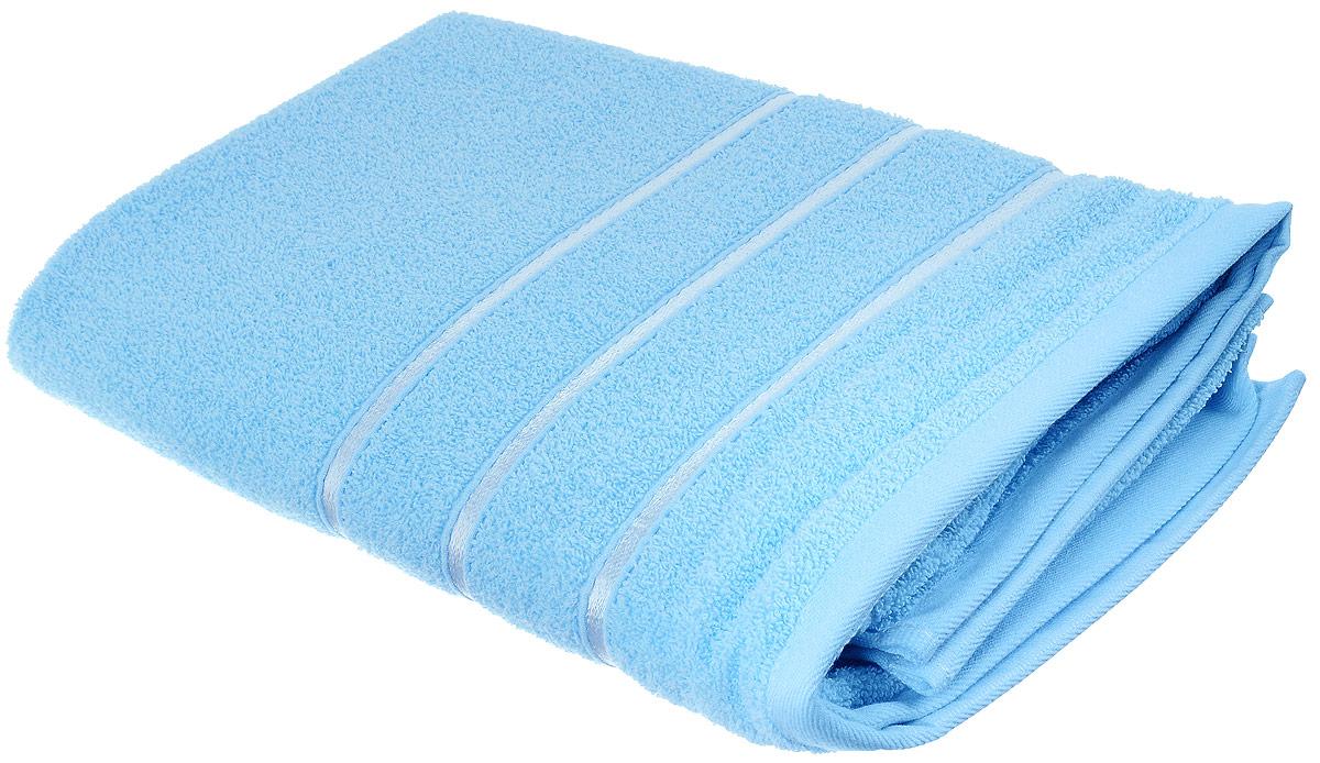 Полотенце хлопковое Home Textile, цвет: небесный, 70 х 140 смLX-OZ13Полотенце Home Textile выполнено из качественной натуральной махры (100% хлопок). Мягкое и уютное полотенце прекрасно впитывает влагу и легко стирается. Кроме того, хлопковые полотенца отличаются высокой износоустойчивостью и долгим сроком службы. Такое полотенце подарит массу положительных эмоций и приятных ощущений.
