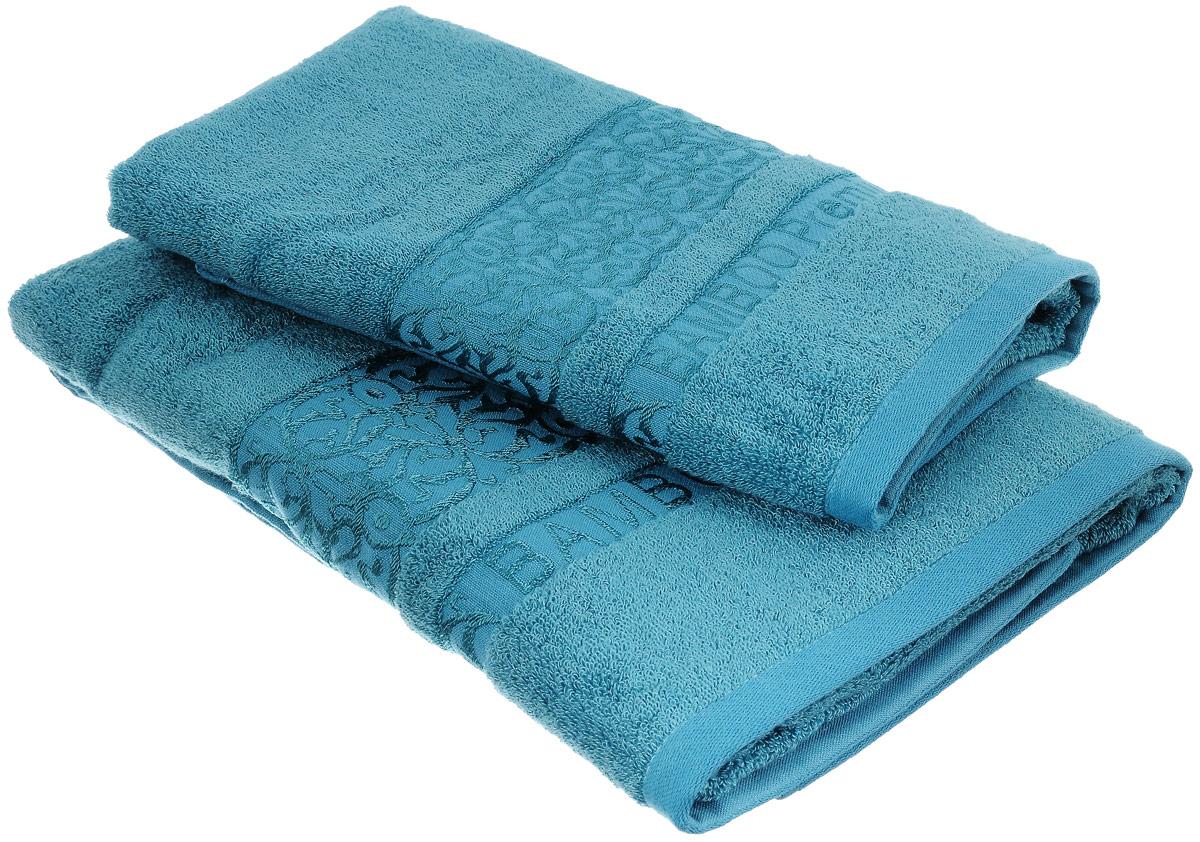 Набор бамбуковых полотенец Home Textile Bamboo Premium, цвет: бирюзовый, 2 штLX-OZ11Набор Home Textile Bamboo Premium состоит из двух полотенец разного размера, выполненных из бамбука с добавлением хлопка (70% бамбук, 30% хлопок). Полотенца имеют гладкую, приятную на ощупь текстуру, края декорированы бордюрами с изысканным узором. Мягкие и уютные, они прекрасно впитывают влагу, легко стираются и быстро сохнут. Кроме того, бамбуковые полотенца отличаются высокой износоустойчивостью и долгим сроком службы, а также обладают антибактериальными свойствами. Такой набор полотенец подарит массу положительных эмоций и приятных ощущений.