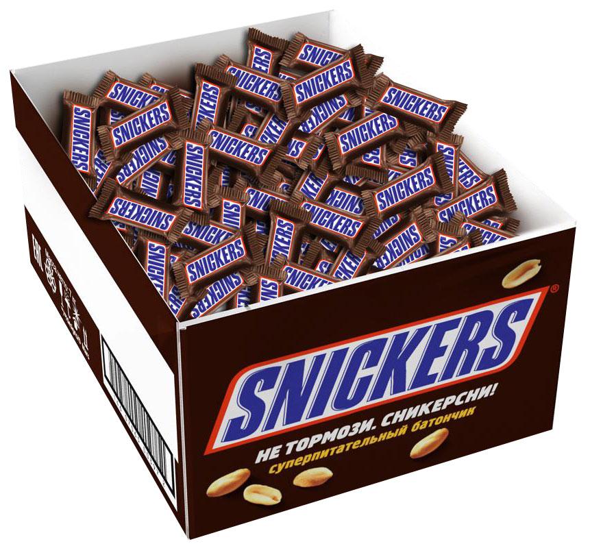 Snickers minis шоколадный батончик, 2,9 кг0120710Вкусные и питательные Snikers minis помогут утолить голод, где бы вы не находились. Сочетание нуги, карамели, арахиса и, конечно же, молочного шоколада - это не просто перекус, а перекус с удовольствием.Уважаемые клиенты! Обращаем ваше внимание, что полный перечень состава продукта представлен на дополнительном изображении.