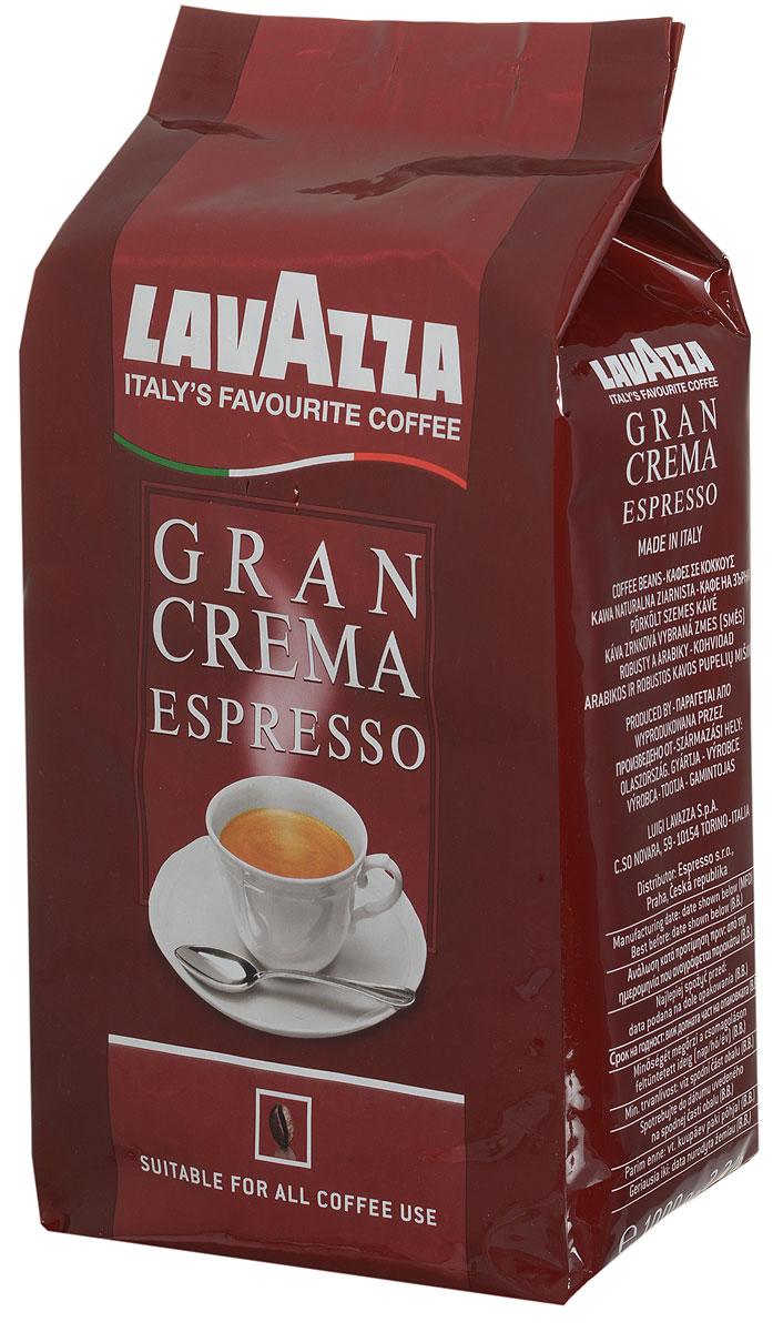 Lavazza Gran Crema кофе в зернах, 1 кг0120710Lavazza Gran Crema имеет богатый, интенсивный вкус с ярким ореховым послевкусием. Высокое качество отборных сортов зерен, придает изысканный аромат и плотную кофейную пенку. Отлично сочетается с молоком. Смесь подойдет как для профессиональных, так и бытовых кофе-машин.