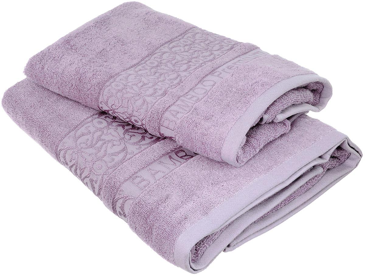 Набор бамбуковых полотенец Home Textile Bamboo Premium, цвет: сиреневый, 2 штLX-OZ09Набор Home Textile Bamboo Premium состоит из двух полотенец разного размера, выполненных из бамбука с добавлением хлопка (70% бамбук, 30% хлопок). Полотенца имеют гладкую, приятную на ощупь текстуру, края декорированы бордюрами с изысканным узором. Мягкие и уютные, они прекрасно впитывают влагу, легко стираются и быстро сохнут. Кроме того, бамбуковые полотенца отличаются высокой износоустойчивостью и долгим сроком службы, а также обладают антибактериальными свойствами. Такой набор полотенец подарит массу положительных эмоций и приятных ощущений.