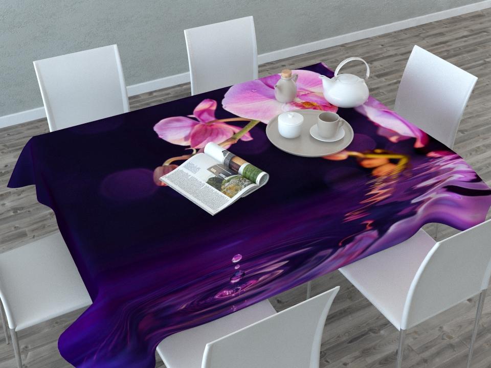 Скатерть Сирень Орхидея над водой, прямоугольная, 145 x 120 см02656-СК-ГБ-003Прямоугольная скатерть Сирень Орхидея над водой с ярким и объемным рисунком, выполненная из габардина, преобразит вашу кухню, визуально расширит пространство, создаст атмосферу радости и комфорта. Рекомендации по уходу: стирка при 30 градусах, гладить при температуре до 110 градусов. Размер скатерти: 145 х 120 см. Изображение может немного отличаться от реального.