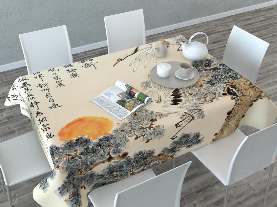 Скатерть Сирень Японская фреска, прямоугольная, 145 x 120 см02890-СК-ГБ-003Скатерть Сирень с ярким и объемным рисунком преобразит Вашу кухню, визуально расширит пространство, создаст атмосферу радости и комфорта. Рекомендации по уходу: стирка при 30 градусах гладить при температуре до 110 градусов Изображение может немного отличаться от реального.