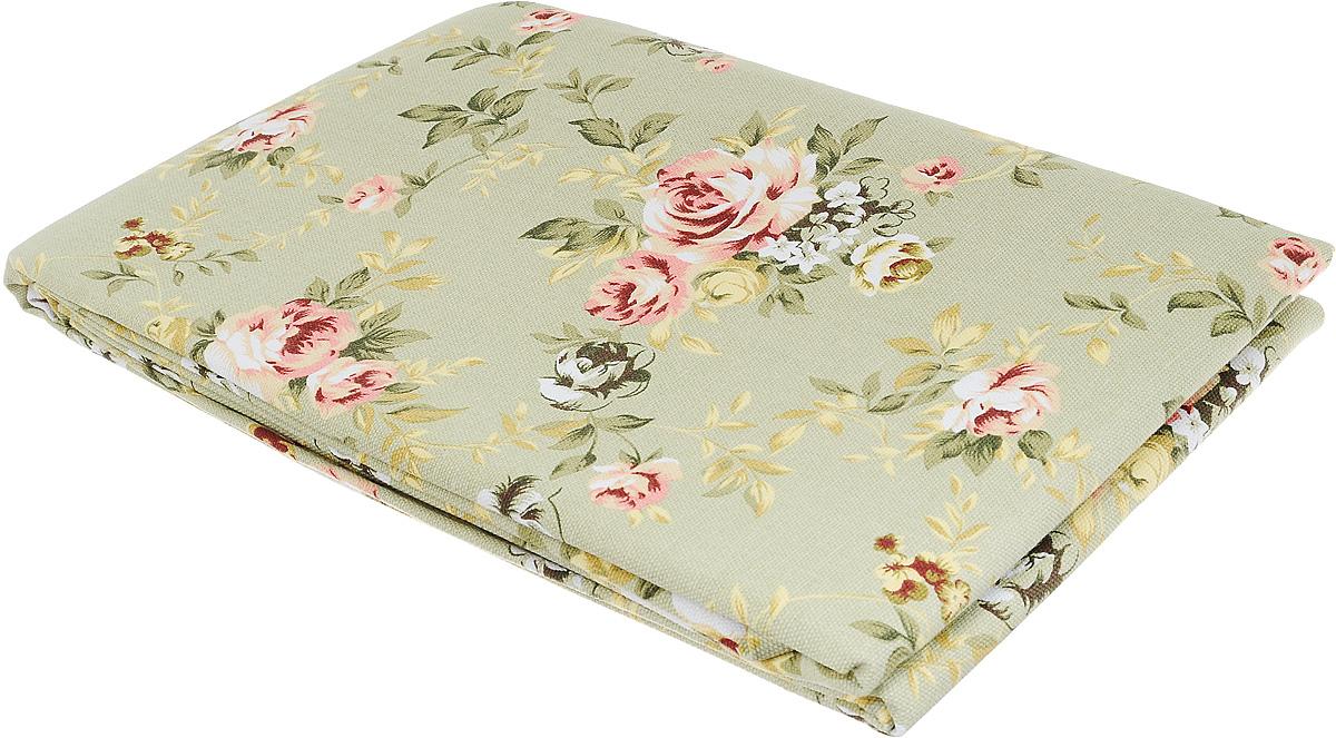 """Скатерть """"Bonita"""", цвет: зеленый, белый, розовый, 145 х 180 см. 1101210071"""