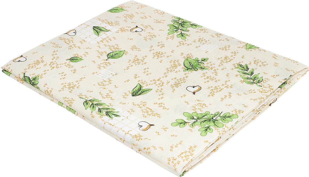 """Скатерть Bonita """"Травы"""", цвет: бежевый, зеленый, коричневый, 125 х 145 см 10010815042"""