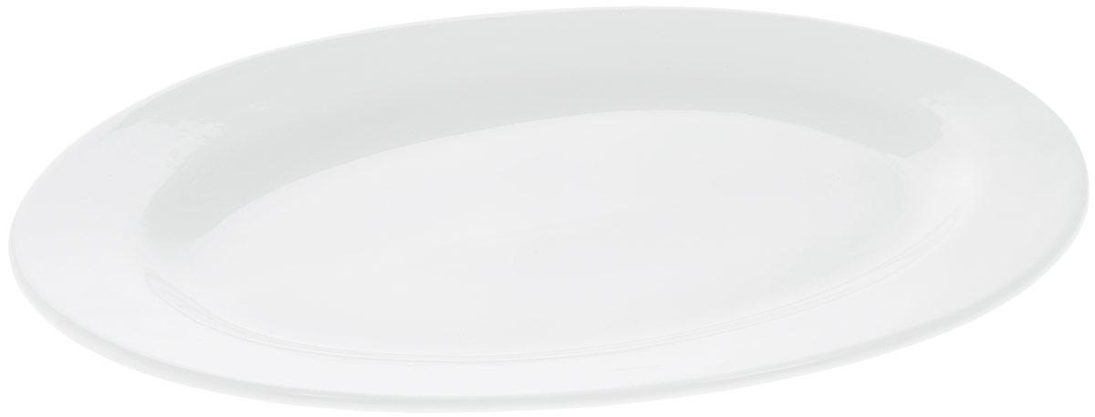 Блюдо Wilmax, овальное, 40,5 х 30 смWL-992027 / AБлюдо Wilmax овальной формы изготовлено из высококачественного фарфора с глазурованным покрытием. Материал легкий, тонкий, свет без труда проникает сквозь изделие. Посуда имеет роскошную белизну, гладкость и блеск достигаются за счет особой рецептуры глазури. Изделие обладает низкой водопоглощаемостью, высокой термостойкостью и ударопрочностью, а также экологичностью. Посуда долговечна и рассчитана на постоянное интенсивное использование. Гладкая непористая поверхность исключает проникновение бактерий, изделие не будет впитывать посторонние запахи и сохранит первоначальный цвет. Блюдо прекрасно подойдет для подачи различных закусок, нарезок, сладостей, фруктов. Такое блюдо украсит ваш праздничный или обеденный стол, а оригинальный дизайн придется по вкусу и ценителям классики, и тем, кто предпочитает утонченность и изысканность. Можно мыть в посудомоечной машине и использовать в микроволновой печи.