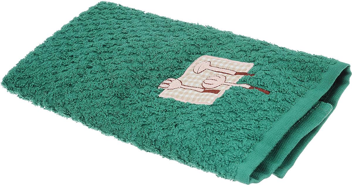 Полотенце кухонное Bonita, цвет: темно-зеленый, 40 х 60 смПЛВФ1027Кухонное полотенце Bonita изготовлено из 100% хлопка, поэтому является экологически чистыми. Качество материала гарантирует безопасность не только взрослых, но и самых маленьких членов семьи. Изделие украшено оригинальным рисунком, оно впишется в интерьер любой кухни. Такое полотенце станет прекрасным помощником у вас на кухне.