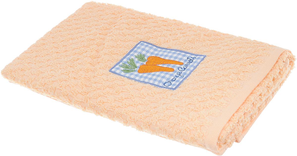 Полотенце кухонное Bonita, цвет: персиковый, 40 х 60 смПЛВФ1029Кухонное полотенце Bonita изготовлено из 100% хлопка, поэтому является экологически чистыми. Качество материала гарантирует безопасность не только взрослых, но и самых маленьких членов семьи. Изделие украшено оригинальным рисунком, оно впишется в интерьер любой кухни. Такое полотенце станет прекрасным помощником у вас на кухне.