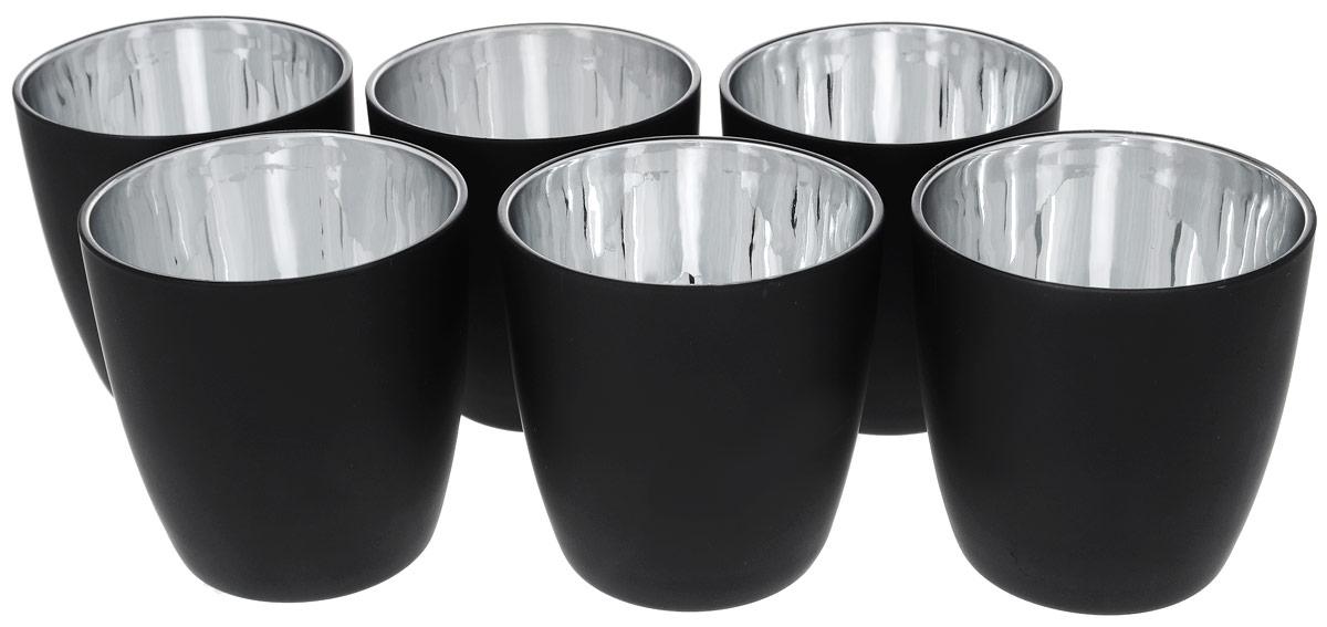 Подсвечник Duni, цвет: черный, серебристый, высота 9 см, 6 штFS-91909Подсвечник Duni изготовлен из стекла с матовым внешним и зеркальным внутренним покрытием. За счет внутренней зеркальной поверхности подсвечник создает оригинальное свечение, таинственное и загадочное. Изделие имеет стильный дизайн, красивые формы и гармоничное сочетание матового с зеркальным. Такие подсвечники идеально подойдут для сервировки романтического ужина, праздничного застолья, торжественного обеда. Они сделают вашу трапезу незабываемой и волшебной. Впечатляющая сервировка стола вдохновит любое застолье и превратит его в запоминающийся момент, который захочется повторить. Диаметр (по верхнему краю): 8,5 см. Высота подсвечника: 9 см.