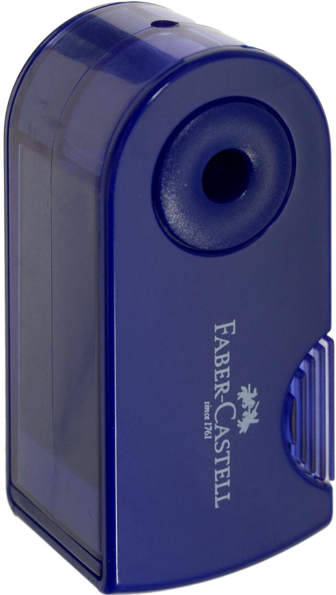 Faber-Castell Мини-точилка Sleeve цвет темно-синийFS-36054Мини-точилка Faber-Castell Sleeve выполнена из прочного пластика.В точилке имеется одно отверстие для карандашей классического диаметра. Эргономичная форма контейнераобеспечивает стабильное положение кисти. Карандаш затачивается легко иаккуратно, а опилки после заточки остаются в специальном контейнереповышенной вместимости.