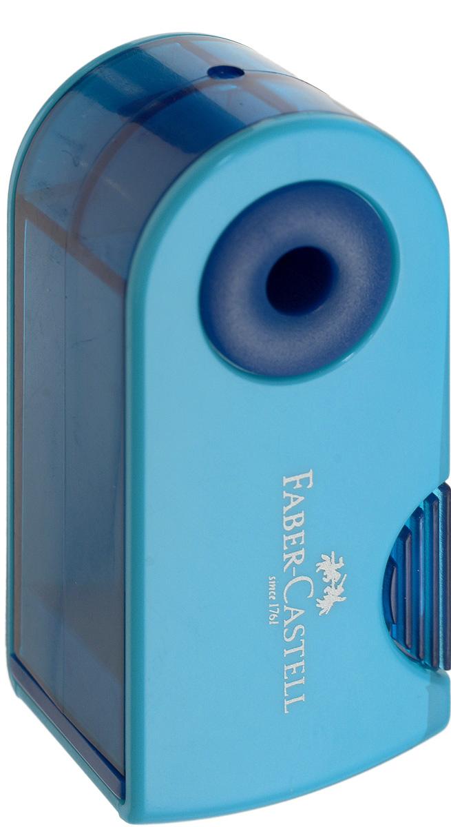 Faber-Castell Мини-точилка Sleeve цвет синий голубой182712_синийМини-точилка Faber-Castell Sleeve выполнена из прочного пластика. В точилке имеется одно отверстие для карандашей классического диаметра. Эргономичная форма контейнера обеспечивает стабильное положение кисти. Карандаш затачивается легко и аккуратно, а опилки после заточки остаются в специальном контейнере повышенной вместимости.