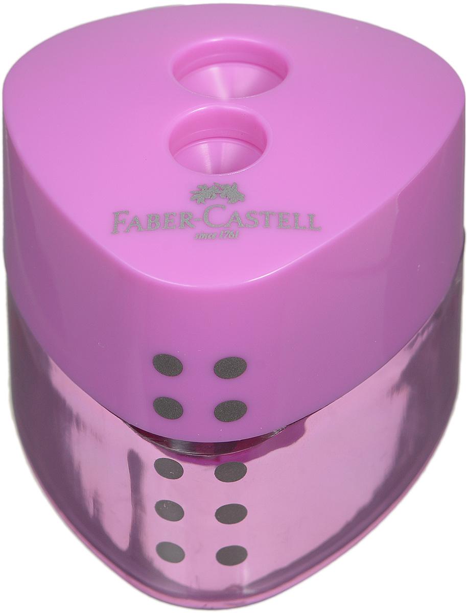 Faber-Castell Точилка Grip цвет сиреневыйFS-54103Точилка с автоматическим закрытием Faber-Castell Grip предназначена для затачивания разных типов карандашей.Прозрачный контейнер позволяет визуально определить уровень заполнения и вовремя произвести очистку. Острые стальные лезвия на двух отделениях обеспечивают высококачественную и точную заточку карандашей.