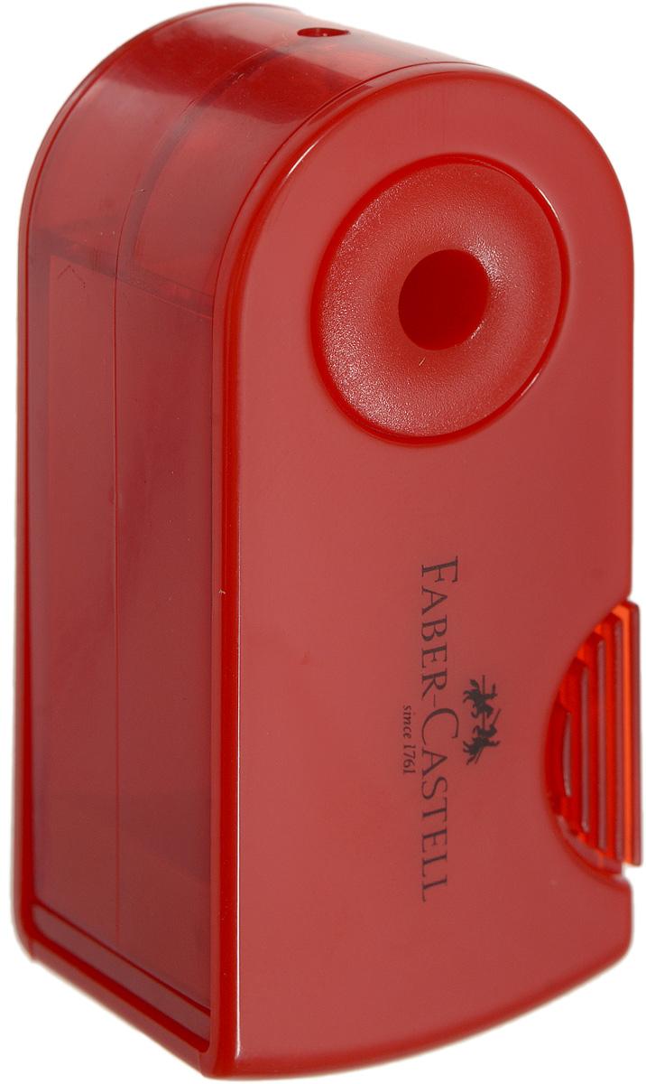 Faber-Castell Мини-точилка Sleeve цвет красный182711_красныйМини-точилка Faber-Castell Sleeve выполнена из прочного пластика. В точилке имеется одно отверстие для карандашей классического диаметра. Эргономичная форма контейнера обеспечивает стабильное положение кисти. Карандаш затачивается легко и аккуратно, а опилки после заточки остаются в специальном контейнере повышенной вместимости.