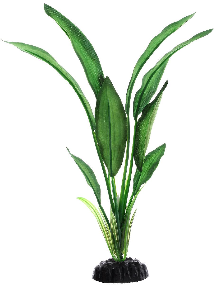 Растение для аквариума Barbus Эхинодорус Блехера, шелковое, высота 30 см. Plant 050/30 медоса лимонник 30 см ym 02 red green шелковое растение