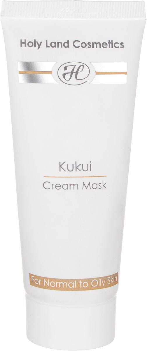 Holy Land Сокращающая маска Kukui Cream Mask For Oily Skin 70 мл106185Маска комбинированного действия (сокращающая, лифтинговая, отбеливающая) для жирной и нормальной кожи. Действие: Очищает кожу и удаляет мертвые клетки эпидермиса. Поглощает избыточный жир, стягивает поры. Выравнивает текстуру и цвет, разглаживает и подтягивает кожу. Сокращает капилляры. Активные компоненты: Масло ореха кукуи, масло ореха макадамии.