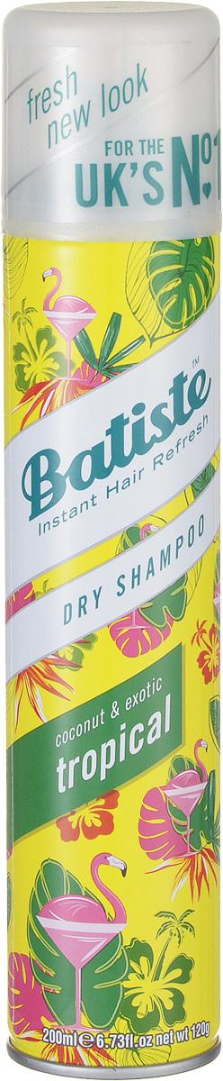 Batiste Сухой шампунь для волос Tropikal, 200 мл503304Сухой шампунь Batiste с кокетливо-цветочным ароматом быстро очищает и освежает волосы. Сухой шампунь устраняет жирность корней, придавая скучным и безжизненным волосам необходимый блеск, без использования воды. Быстро освежает и повышает силу волос, придает телу волоса и текстуру и оставляет ощущение чистоты и свежести. Сухой шампунь идеален для использования, когда: - у вас нет времени мыть голову обычным шампунем, - у вас много других дел, - ваша жизнь - сплошной круговорот событий. Сухой шампунь быстро и эффективно абсорбирует грязь и жир, тем самым очищая волосы. Способ применения: Шаг 1. Распылите сухой шампунь на волосы на расстоянии 30 см. Шаг 2. Помассируйте голову несколько минут. Во время массажных движений пальцами сухой шампунь проникает в стержень волоса, абсорбирует грязь и жир, тем самым восстанавливая его. Шаг 3. Причешитесь и ваши волосы снова мягкие и чистые. Товар сертифицирован.