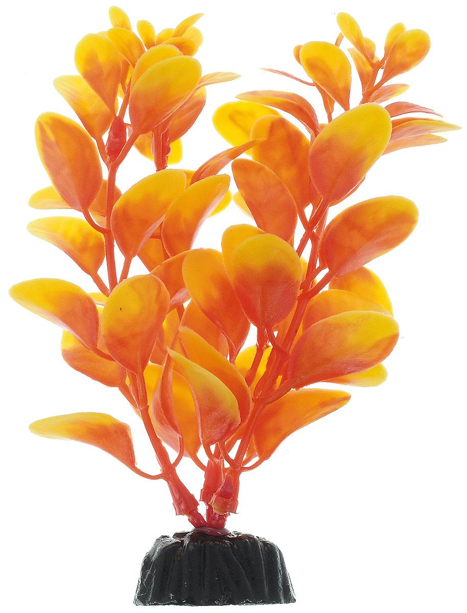 Растение для аквариума Barbus Людвигия, пластиковое, цвет: оранжевый, высота 10 см0120710Растение для аквариума Barbus Людвигия, выполненное из качественного пластика, станет оригинальным украшением вашего аквариума. Пластиковое растение идеально подходит для дизайна всех видов аквариумов. Оно абсолютно безопасно, не токсично, нейтрально к водному балансу, устойчиво к истиранию краски, подходит как для пресноводного, так и для морского аквариума. Растение для аквариума Barbus поможет вам смоделировать потрясающий пейзаж на дне вашего аквариума или террариума. Высота растения: 10 см.