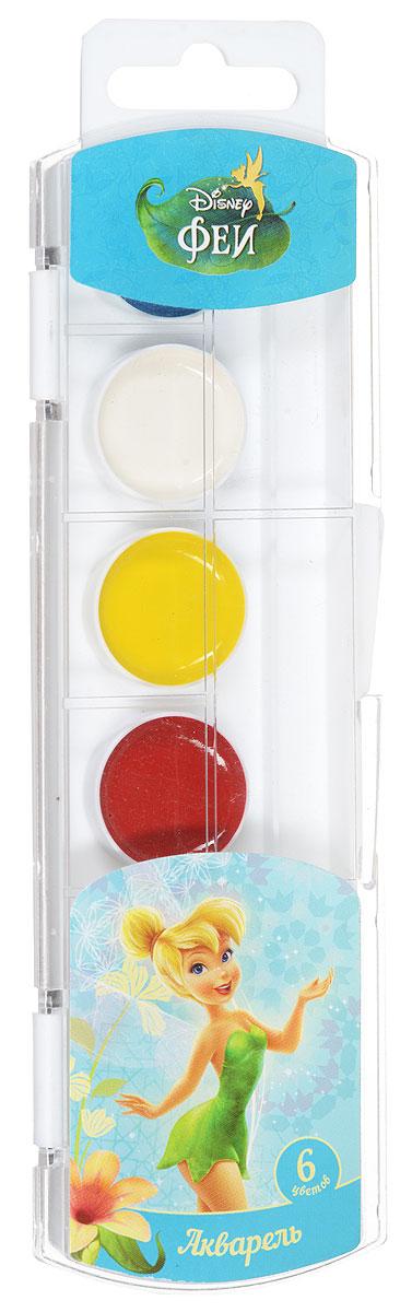 Disney Акварель Феи 6 цветовFS-54103Акварельные краски Disney Феи выпускаются в удобной пластмассовой упаковке с прозрачной крышкой, безопасны для детей, нетоксичны. Краски быстро высыхают и не портятся со временем. Идеально подойдут для детского творчества и художественного изобразительного искусства. Яркие, насыщенные цвета красок отлично смешиваются между собой.