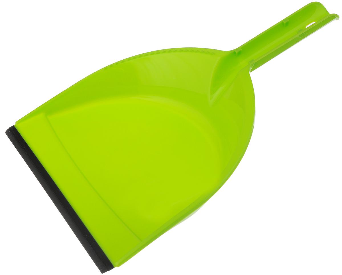 Совок York Клип, с резиновым краем, цвет: салатовый, черный6104_салатовый/061040Совок York Клип, выполненный из пластика, предназначен для сбора мусора и пыли при уборке помещений. Он оснащен эргономичной ручкой с петлей, которая позволит повесить изделие на крючок. Благодаря резиновому краю совка, в него легко сметать грязь и мусор. Размер рабочей части: 21 х 16 см. Длина ручки: 12 см.